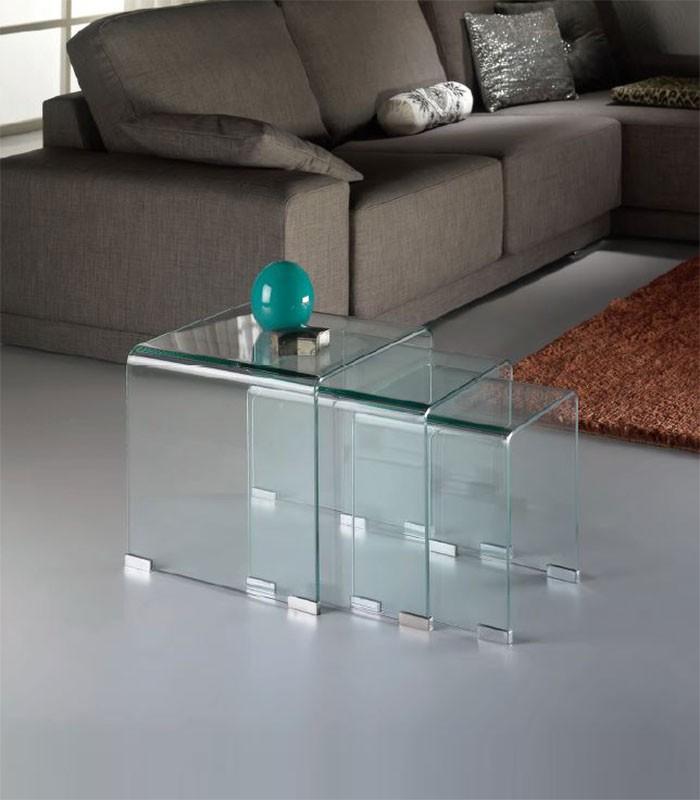 Mesas de rincon de cristal nido compra a 266 en nuestra - Mesas nido cristal ...
