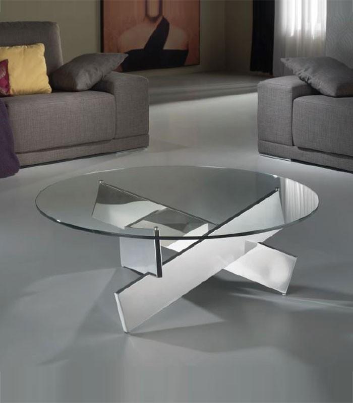 Mesa de centro de acero y cristal denver compra a 888 - Mesas acero y cristal ...