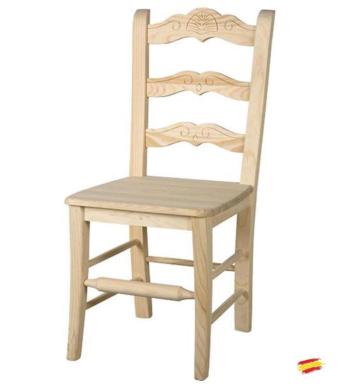 Sillas de madera rusticas marbella compra a 86 en for Sillas de madera rusticas