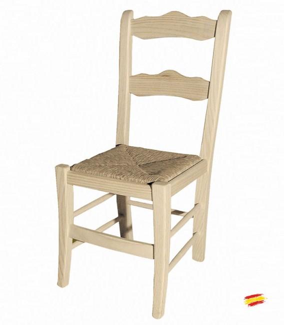 silla rstica ronda con asiento de enea