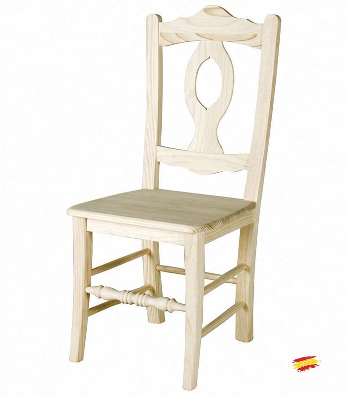 silla rstica asturias con asiento de madera