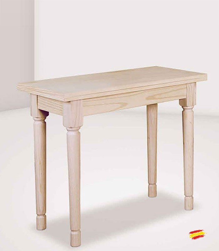 Mesa de cocina abatible con pata de 7x7cm 1036 compra a for Mesas de cocina zaragoza