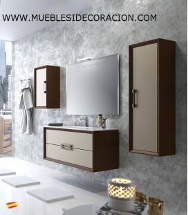 MUEBLE DE BAÑO 100 cm SUSPENDIDO DECOR.09