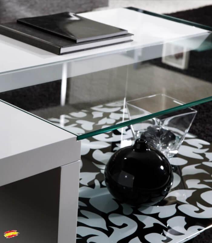 Mesa de centro de acero cristal y tablero m 099 compra a - Mesa centro cristal y acero ...