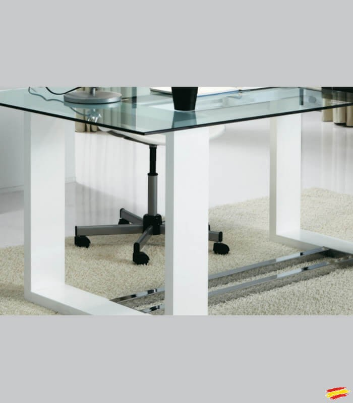 Mesa De Oficina De Madera Y Cristal M 116 Compra A 824
