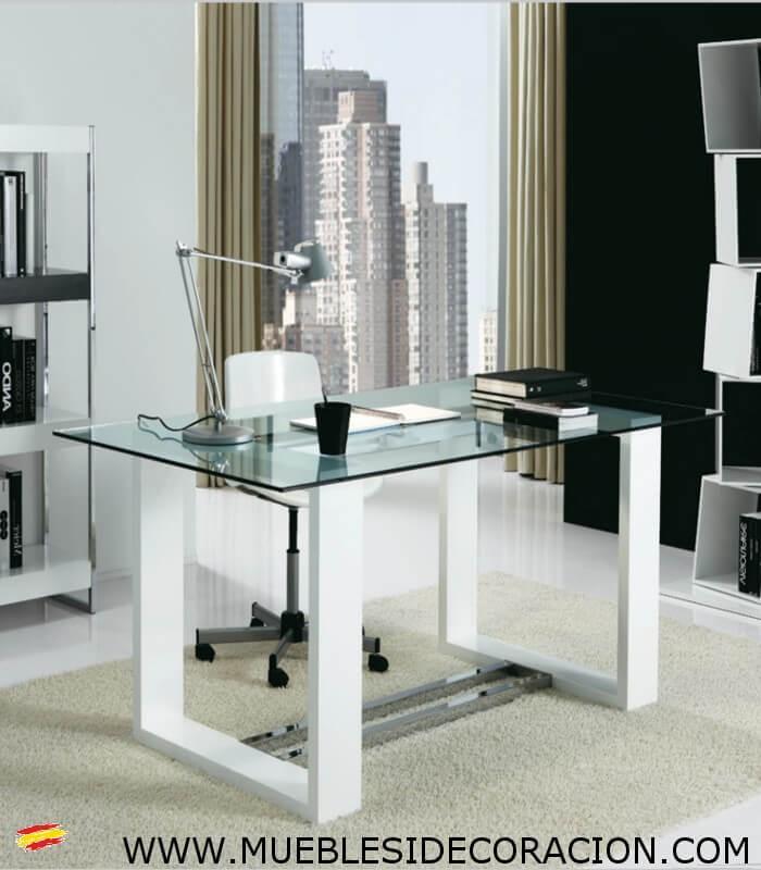 Mesa de oficina de madera y cristal m 116 compra a 824 for Cristal mesa a medida