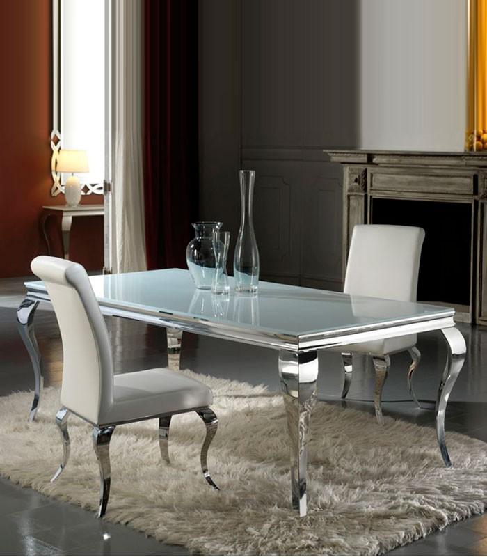 Mesa comedor isabelina acero barroque compra a for Adornos mesa comedor cristal
