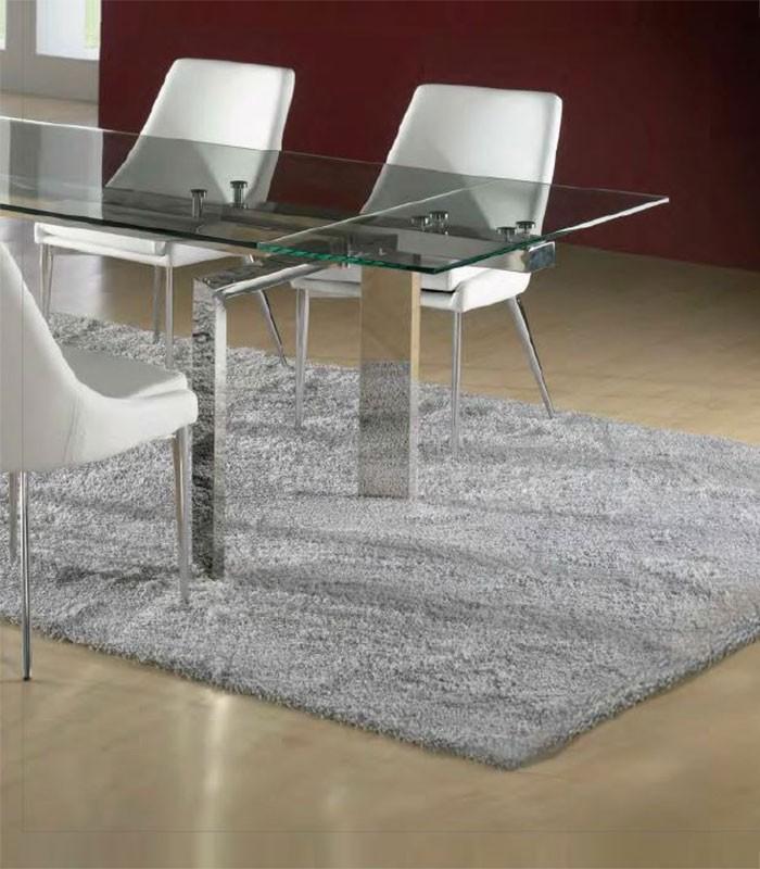 Mesa de comedor de cristal extensible dublin compra a - Mesas comedor cristal ...