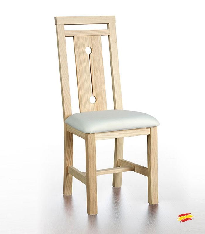 Sillas de madera tapizada manila compra a 72 en nuestra for Sillas de madera clasicas tapizadas