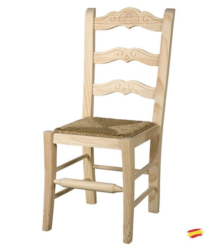 Sillas de madera rusticas marbella compra a 86 en nuestra tienda de muebles y decoraci n - Sillas rusticas ...