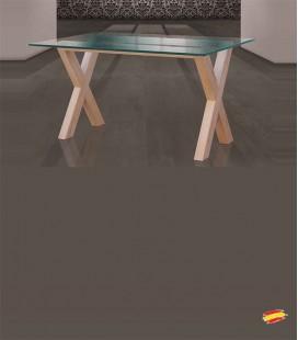 Mesa de Comedor Tapa de Cristal 1052