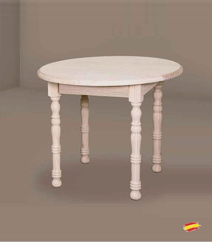 Mesa de comedor redonda de pata 7x7cm 1033 compra a 236 en nuestra tienda de muebles y decoraci n - Mesa camilla redonda ...
