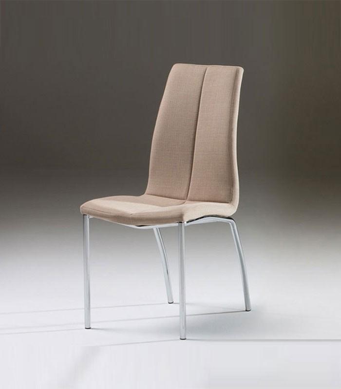 Silla de metal y tapizada malibu 65 4227 compra a 91 en for Malibu muebles