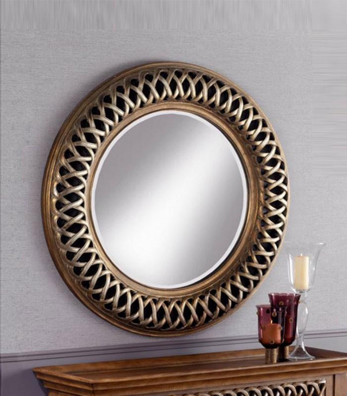 Espejo redondo cl sico ref 30 2915 compra a 346 en for Espejos de madera redondos
