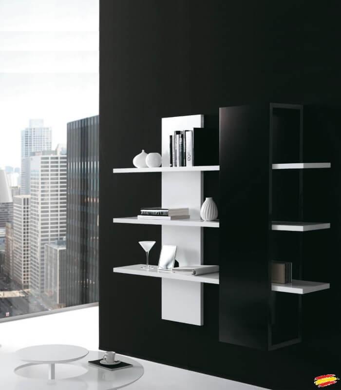 Estanteria de pared de dise o m 140 compra a 664 en nuestra tienda de muebles y decoraci n - Estanterias diseno pared ...