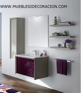 MUEBLE DE BAÑO 80 cm SUSPENDIDO DECOR.11