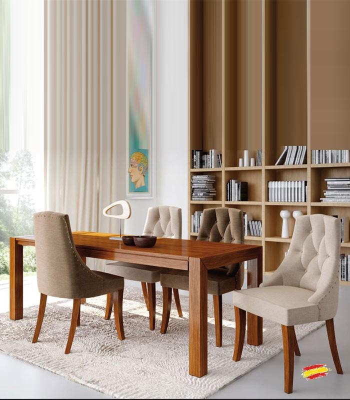 Sillas isabelinas modernas la tapicera sillas tapizadas for Sillas capitone modernas