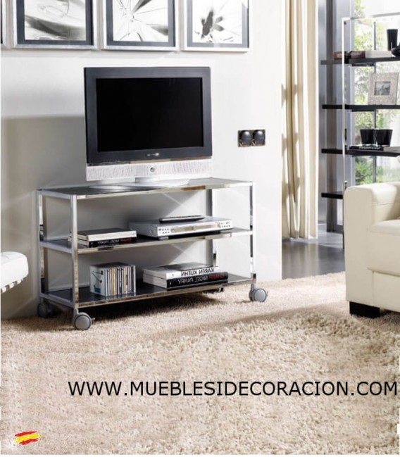 MESA TV DE ACERO INOXIDABLE M-025