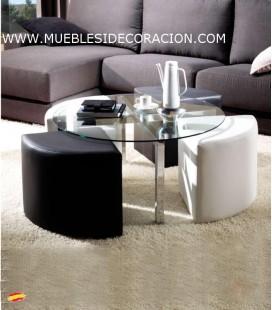 MESA DE ACERO REDONDO M-028