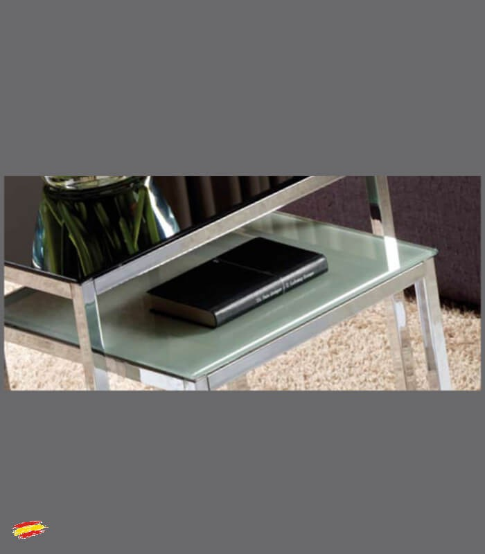 Mesas auxiliares de acero y cristal m 042 y m 041 compra - Mesas de cristal y acero ...