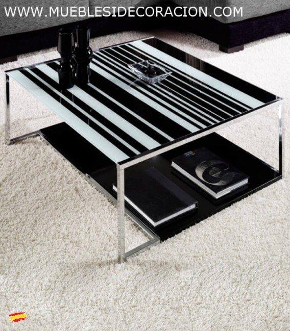Mesa de centro de acero y cristal m 098 compra a 373 en for Mesas redondas de cristal y acero