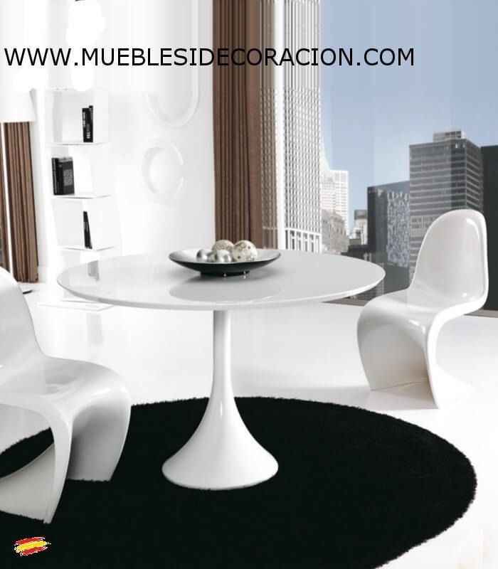 Mesa moderna redonda m 114 compra a 715 en nuestra tienda de muebles y decoraci n - Mesa camilla moderna ...