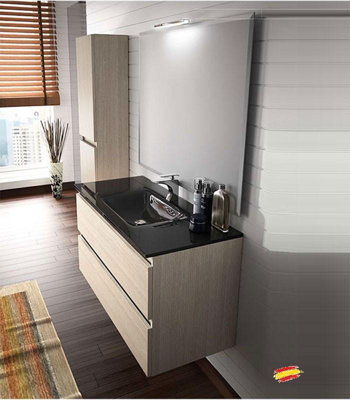 Mueble de ba o 100 cm suspendido bo compra a 249 en for Mueble bano 75 cm
