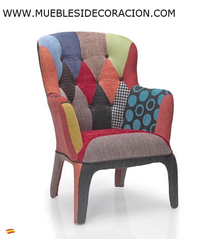 SILLN PATCHWORK 689 compra a 5767 en nuestra tienda de Muebles