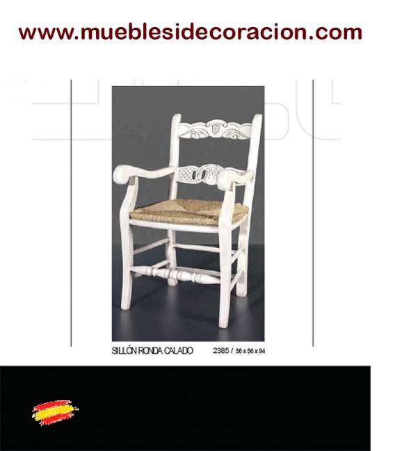 SILLÓN RÚSTICO ENEA CALADO 2385