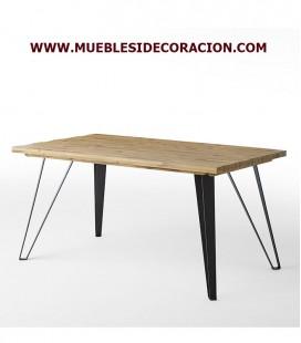MESA DE COMEDOR DE MADERA MACIZA REF. TD-107
