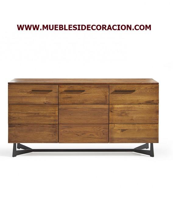 APARADOR MODERNO MACIZO DE ROBLE REF. W-7735