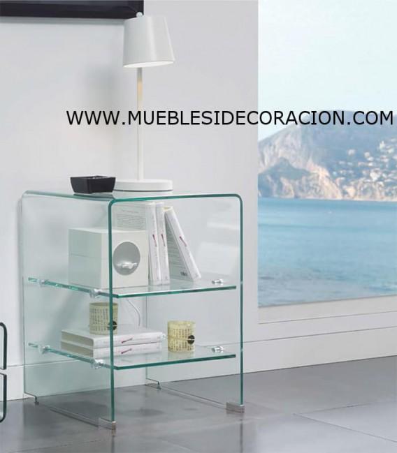 MESA AUXILIAR DE CRISTAL TEMPLADO M-1120