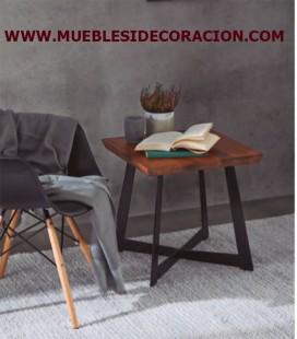 MESA AUXILIAR DE MADERA Y METAL M-1135